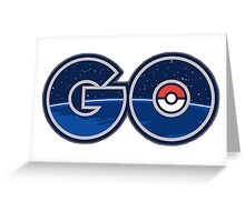 Pokemon GO letters Greeting Card