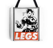 Chun-Li Legs Obey Design Tote Bag