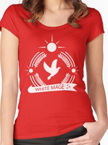 Final Fantasy White Mage Women's Fitted Scoop T-Shirt