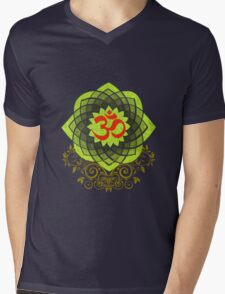 OM-Veda Mantra Mens V-Neck T-Shirt
