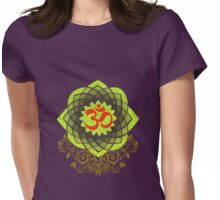 OM-Veda Mantra Womens Fitted T-Shirt