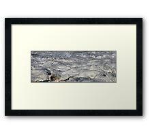 Turbulent Splash of a Momenary Water Sculpture Framed Print