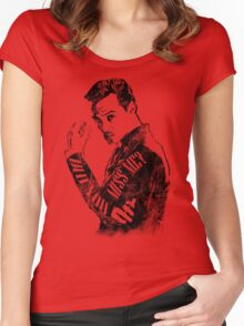 Moriarty- Did you Miss Me?- rough Women's Fitted Scoop T-Shirt