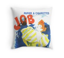 Vintage Jules Cheret Cigarette Advertising 1889 Throw Pillow