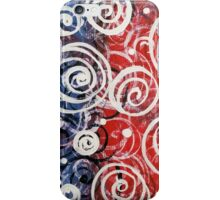 Spinning Tops Red White Blue and Swirls Patriotic  iPhone Case/Skin