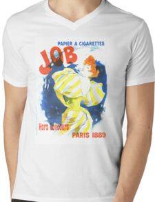 Vintage Jules Cheret Cigarette Advertising 1889 Mens V-Neck T-Shirt