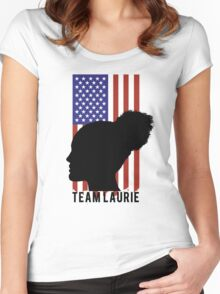 TEAM LAURIE Women's Fitted Scoop T-Shirt