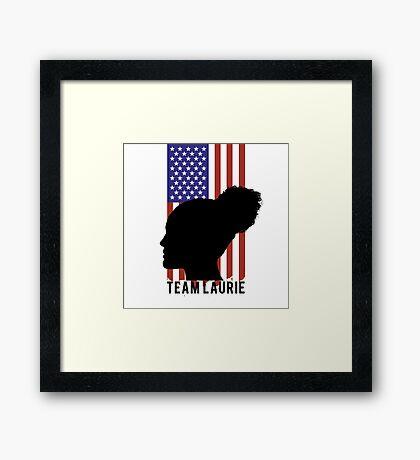 TEAM LAURIE Framed Print