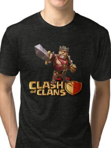 THE KING CLASH CLANS Tri-blend T-Shirt