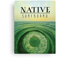 Native Surfboard Canvas Print