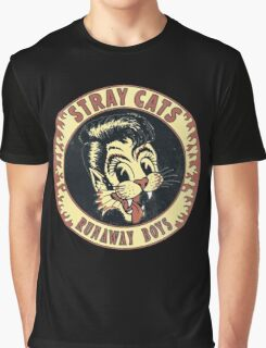 Stray Cats  (Runaway Boys) Vintage Graphic T-Shirt