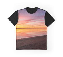 Dawn's Reflection By The Beach | Orient, New York Graphic T-Shirt