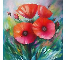 Expressionist Poppies Photographic Print