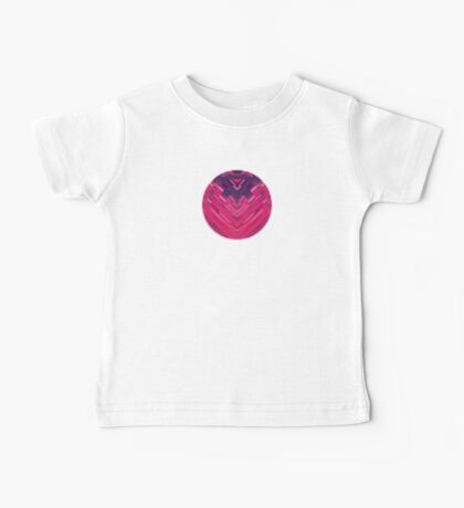 Modern Red / Black Stripe Abstract Stream Lines Texture Design (Symmetric edition) Baby Tee