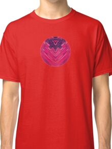Modern Red / Black Stripe Abstract Stream Lines Texture Design (Symmetric edition) Classic T-Shirt