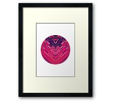 Modern Red / Black Stripe Abstract Stream Lines Texture Design (Symmetric edition) Framed Print