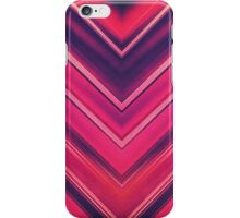 Modern Red / Black Stripe Abstract Stream Lines Texture Design (Symmetric edition) iPhone Case/Skin