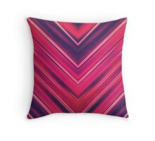 Modern Red / Black Stripe Abstract Stream Lines Texture Design (Symmetric edition) Throw Pillow