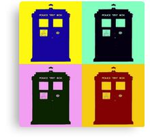 TARDIS Pop Art Canvas Print