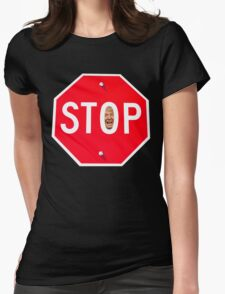 STOP TRUMP Womens Fitted T-Shirt