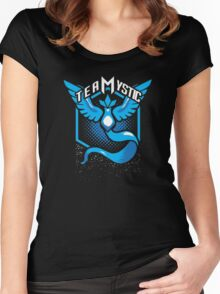 Pokemon Go | Team Mystic Design| Black Background | New! | High Quality! Women's Fitted Scoop T-Shirt