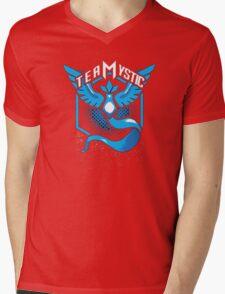 Pokemon Go | Team Mystic Design| Black Background | New! | High Quality! Mens V-Neck T-Shirt
