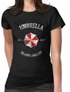 Umbrella Training Facility Vintage Resident Evil (for dark colors) Womens Fitted T-Shirt