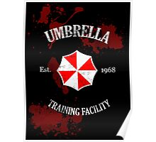 Umbrella Training Facility Vintage Resident Evil (for dark colors) Poster