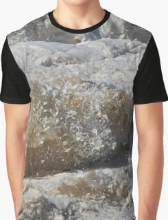 Wavey Frothy Frozen Foam Frozen Sculpture Graphic T-Shirt