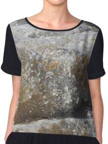 Wavey Frothy Frozen Foam Frozen Sculpture Chiffon Top