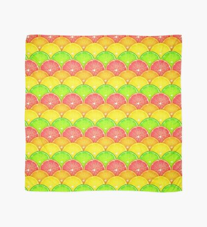 Tangy Citrus Fruit Scales Scarf
