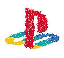 PS Logo - Scribble Photographic Print