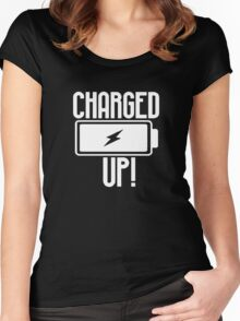 charged up funny Shirt Women's Fitted Scoop T-Shirt