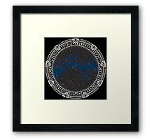 Stargate (white) Framed Print