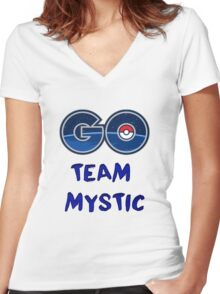 GO Team Mystic - Pokemon Go Women's Fitted V-Neck T-Shirt