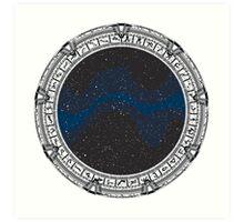 Stargate (black) Art Print