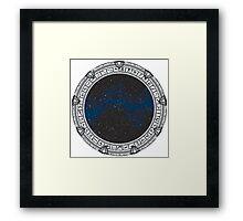 Stargate (black) Framed Print