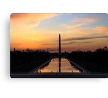 Sunrise from the Lincoln Memorial in DC Canvas Print
