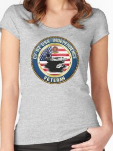 CV-62 USS Independence Women's Fitted Scoop T-Shirt
