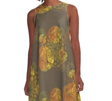 Floral mandalas A-Line Dress