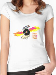Peace, Love and Vinyl! Women's Fitted Scoop T-Shirt