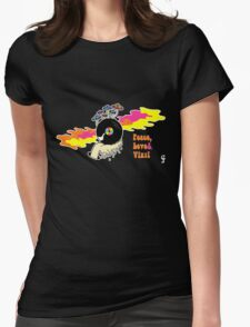 Peace, Love and Vinyl! Womens Fitted T-Shirt