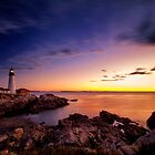 Portland Headlight, Cape Elizabeth, Maine, Sunrise by KellyHeaton