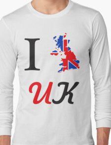 I Love England Long Sleeve T-Shirt