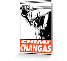 Deadpool Chimichangas Obey Design Greeting Card