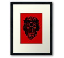 Zombie advice - AIM FOR THE HEAD Framed Print