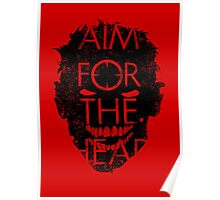 Zombie advice - AIM FOR THE HEAD Poster