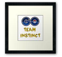 GO Team Instinct - Pokemon Go Framed Print