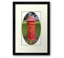 Halls Cottage Postbox Framed Print