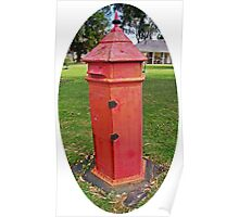 Halls Cottage Postbox Poster